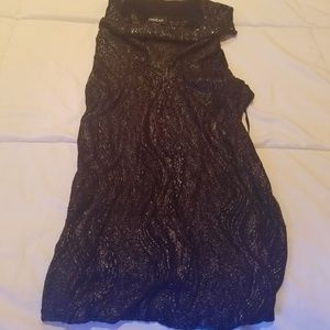 BEBE sleeveless black dress shirt Small